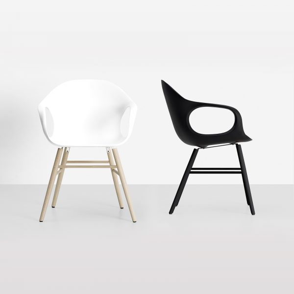 Möbel - Stühle - Elephant Wood Sessel - Kristalia - schwarz weiß - Buchenfurnier, lackiertes Polyurhethan